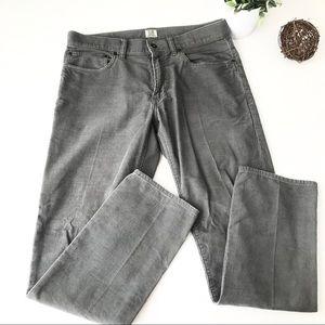 JCREW Gray Corduroy Slim Pants J2